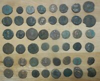 LOT OF 48 DETAILED ANCIENT ROMAN COINS LARGEST IS 22 MM
