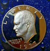 1977-S IKE $1 COIN  GEM PROOF   AS SHOWN LOW FIXED PRICEV43