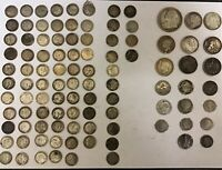 PRE 1920 LOT OF SILVER COINS 190G GRAMS GMS