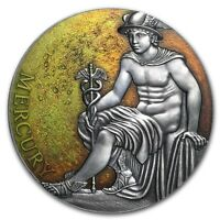 MERCURY  PLANETS AND GODS 3 OZ SILVER COIN 3000 FRANCS CAMER