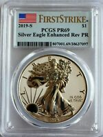 2019 S PCGS PR69 AMERICAN EAGLE 1OZ SILVER ENHANCED REVERSE