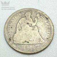 1860 O SEATED LIBERTY HALF DIME AG CONDITION SEE PHOTOS