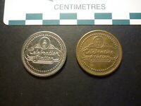 COPPER NICKEL AND COPPER TYPES: CELEBRATION STATION   AMUSEMENT TOKENS