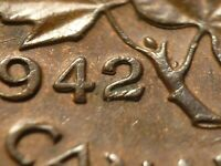 1942 CENT ZOELL R65B DOUBLE 42 IN A NICER GRADE