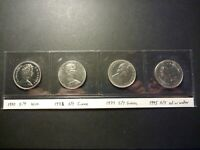LOT OF 4 CANADA NICKEL 50C ERRORS ALL STRIKE THROUGH ERRORS