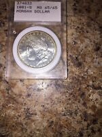 1881 MORGAN SILVER DOLLER  I AM NOT A GRADER BUT THE IS TONING GRATE