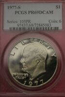 1977 S CLAD PR 69 EISENHOWER DOLLAR PCGS CERTIFIED GRADED AUTHENTIC OCE 519