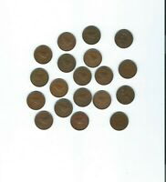 COLLECTION OF 19 FARTHING COINS  NICE CONDITION