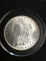 1885-P MORGAN UNCIRCULATED CLASHED OBV/REV SILVER ONE DOLLAR VARIETY COIN