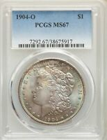 1904-O US MORGAN SILVER DOLLAR $1 - PCGS MINT STATE 67