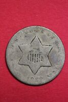 1852 TRIME 3 CENT SILVER COIN EXACT COIN SHOWN COMBINED SHIPPING OCE 19