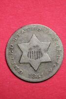 1851 TRIME 3 CENT SILVER COIN EXACT COIN SHOWN COMBINED SHIPPING OCE 21
