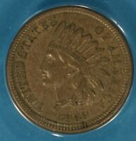 1859 INDIAN HEAD CENT ANACS AU58- LOOKS UNC. FIRST YEAR EXAMPLE