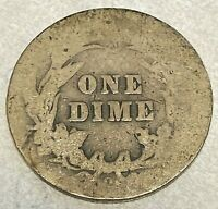 1905-O MICRO O KEY BARBER DIME ORIGINAL AG GOOD LIST $75 CHN