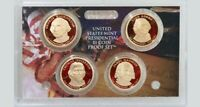 2007 S PROOF PRESIDENTIAL $1 COIN SET OF 4 GOLDEN DOLLARS WITH BOX