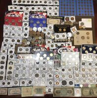 HUGE LOT 350  COINS/STAMPS SILVER NOTE  MERCURY/BUFFALO/INDI