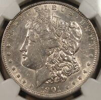 1901 MORGAN DOLLAR NGC CERTIFIED AU50
