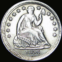 1856 SEATED LIBERTY HALF DIME SILVER TYPE COIN ---- STUNNING ---- X845