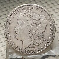 1896 S 1$ SILVER MORGAN DOLLAR SILVER COIN EARLY BETTER DATE US TYPE