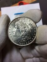 1890-S/S MORGAN VAM 16 S/S DOWN FILLED/FAR DATE UNCIRCULATED SILVER DOLLAR COIN