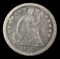 1842 O SILVER USA SEATED LIBERTY HALF DIME COIN