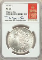 1879-S US MORGAN SILVER DOLLAR $1 - NGC MINT STATE 68