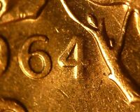 CANADA 1964 DOUBLED 4   BU 1 CENT FROM MINT BAG  : UNCATALOGUED