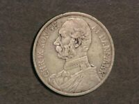DANISH WEST INDIES 1905 20 CENTS SILVER F VF
