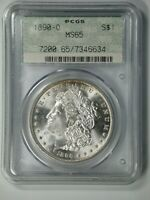1890-O MORGAN PCGS MINT STATE 65 DOILY - ESPECIALLY  IN A DOILY HOLDER