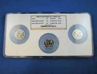 NGC MS66 2004 D WISCONSIN 25C VARIETY SET INCLUDING UP LEAF