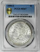 1899-S $1 MORGAN DOLLAR - PCGS MINT STATE 67 CERTIFIED US  COIN