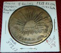 1838 OM 8 REALES COIN MEXICO .903 SILVER 27 G KM 377.13 MEXI