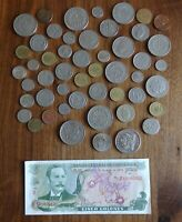 50 COINS; 1 NOTE   CENTRAL AMERICAN & CARIBBEAN LOT.  CIRCUL