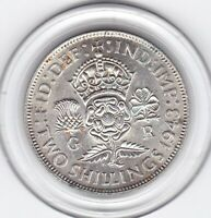 VERY   SHARP  1943   KING  GEORGE  VI   FLORIN   2/     SILV