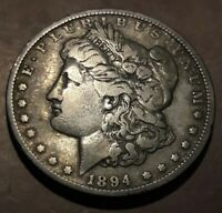 1894 MORGAN SILVER DOLLAR  KEY DATE $1 COIN