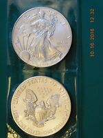 2014 WEST POINT MINT ONE TROY OUNCE .999 FINE SILVER EAGLE