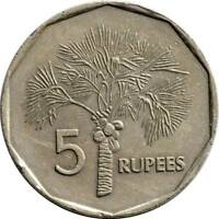 SEYCHELLES 6 PIECE COIN SET 0.01 TO 5 RUPEES