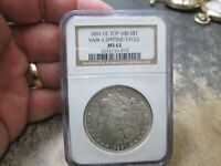 1891 CC SPITTING EAGLE VAM3 MORGAN SILVER DOLLAR NGC MINT STATE 62 UNCIRCULATED CONDITION