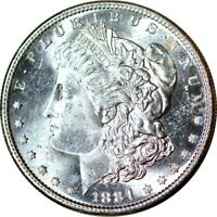 1881-S $1 VAM-9 RARITY-4 MORGAN SILVER DOLLAR CHOICE UNC  K9696