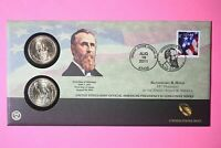 2011 P&D RUTHERFORD B HAYES ONE DOLLAR COIN COVER LIMITED EDITION MINT CODE P39