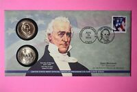 2010 P&D JAMES BUCHANAN ONE DOLLAR COIN COVER LIMITED EDITION MINT CODE P35