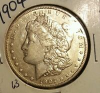 SILVER DOLLAR  1904 MORGAN SILVER DOLLAR