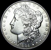 1904 MORGAN DOLLAR SILVER US COIN  ---- GEM BU ---- Z908
