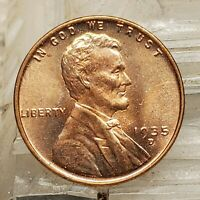 1935 D LINCOLN WHEAT CENT BLAST RED  HIGH GRADE COIN