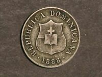 DOMINICAN REPUBLIC 1888H 2 1/2 CENTAVOS VF