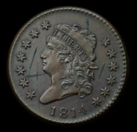 1814 CLASSIC CENT BU DETAILS WITH HINTS OF MINT LUSTER A REAL STUNNER