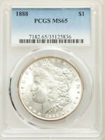 1888 $1 MORGAN DOLLAR PCGS MINT STATE 65 - GREAT COIN UNDER GRADED? MIGHT UPGRADE
