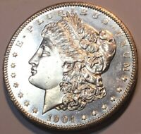 1904-O  MORGAN $1 BRIGHT WHITE WITH CLEAN CHEEKS AND HIGHLY REFLECTIVE SURFACES