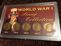 WWI LINCOLN WHEAT CENT COLLECTION WORLD WAR I 1914-1918  LOOK