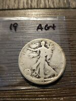 1919 WALKING LIBERTY SILVER HALF DOLLAR AG